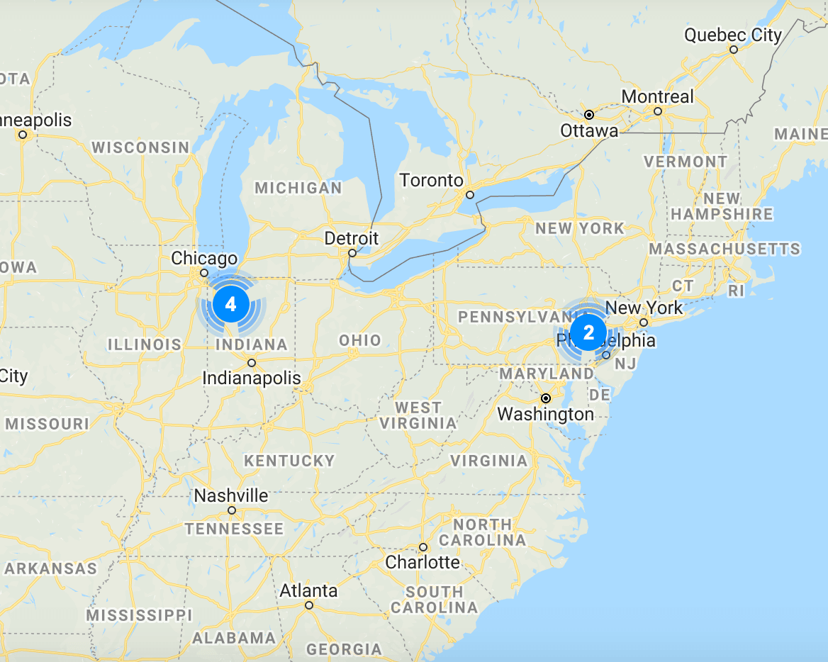 Rittenhouse Village National Location Map