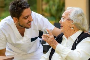 a woman benefits from shine memory care for seniors