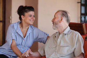 a man takes advantage of assisted living for seniors