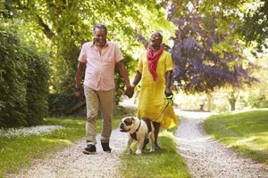 a family is happy about their senior living options