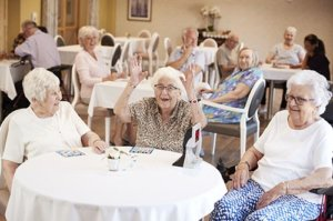 seniors are happy with their senior living amenities at Portage