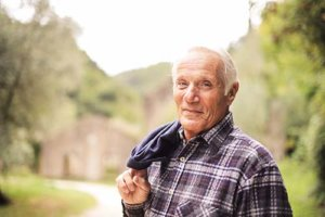 a man is confidence with his independent senior living
