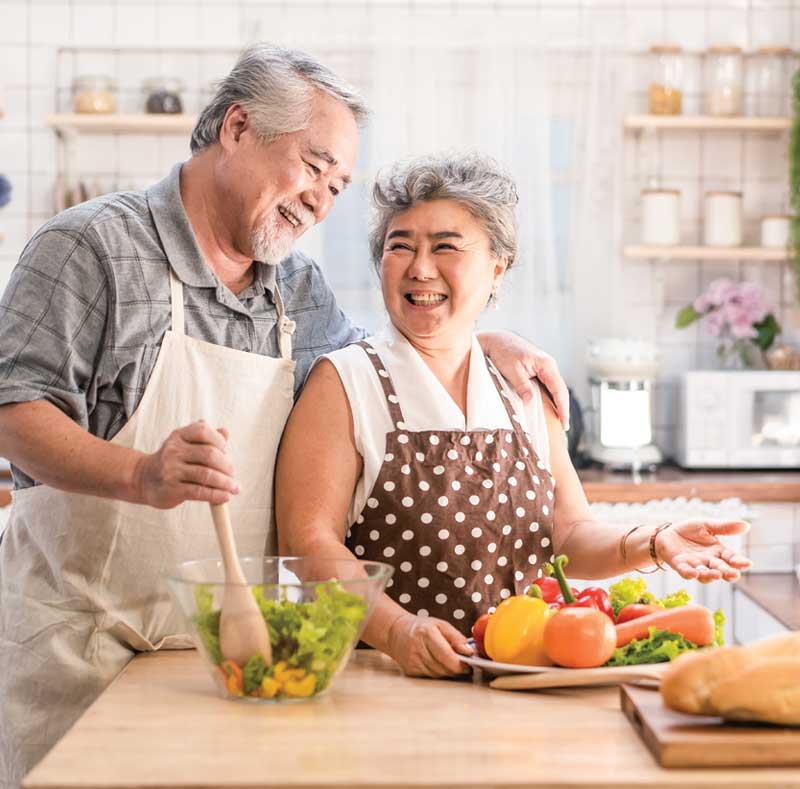 Rittenhouse Village At Northside Couple Cooking