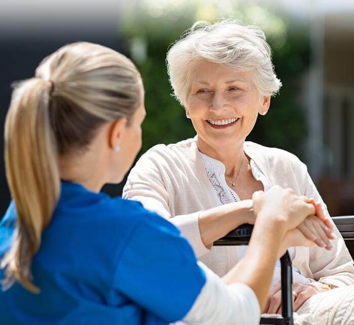 Rittenhouse Village At Michigan City Resident Receiving Care