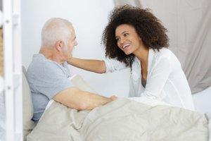 Nurse caring old man