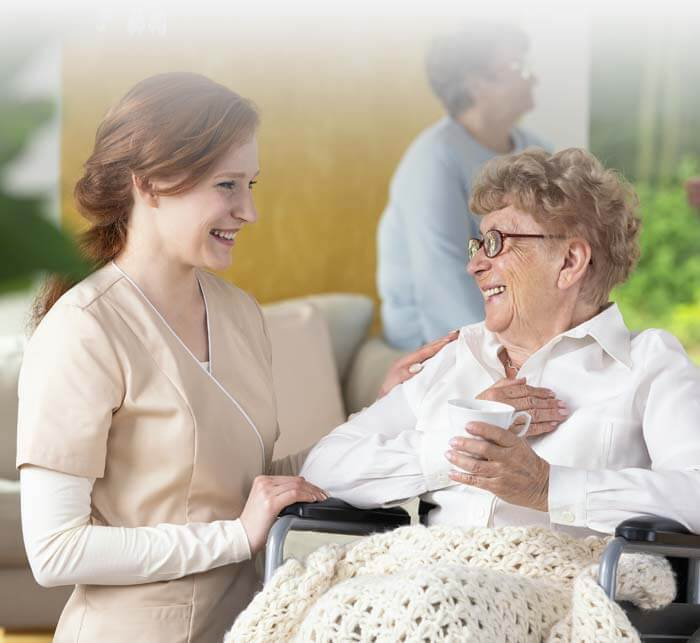Rittenhouse Village At Northside Assisted Living Resident And Nurse
